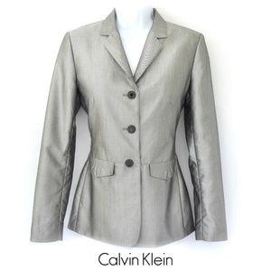 CALVIN KLEIN Silver Blazer